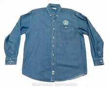 Starbucks Vintage Denim Jean Button Down Shirt Top Small Collectible RARE