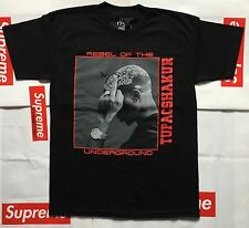 VLONE X 2PAC TEE LARGE NYC POP UP EXCLUSIVE TUPAC REBEL OF THE UNDERGROUND cdg
