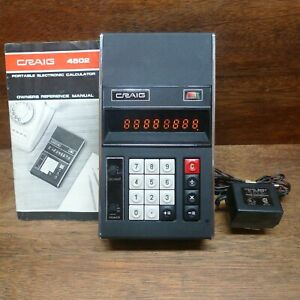 CRAIG 4502 GHOSTBUSTERS VINTAGE CALCULATOR WORKS PERFECTLY!