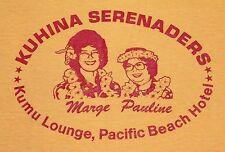 S/M * NOS vtg 80s KUHINA SERENADERS Hawaii t shirt * small medium * 41.137