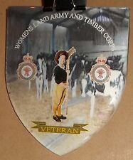 WOMEN'S LAND ARMY AND TIMBER CORPS DOMED SHIELD VINYL STICKER..