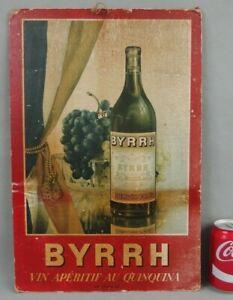 ancienne affiche cartonnée publicitaire BYRRH publicité alcool les ateliers ABC