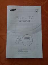 SAMSUNG Plasma TV user manual manuel utilisation SERIES 4 - EN FR D NL