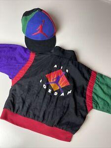 Vintage Nike Air Jordan Baby Windbreaker Jacket Retro w/ Matching Hat 12 months