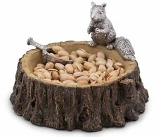 Squirrel Nut Bowl Serving Dish Tree Trunk Scoop Snacks Candy Dip Appetizer Decor
