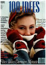 ▬► 100 IDÉES  170 (1988) COUTURE_TRICOT_OUVRAGES_BRODERIE_ENFANTS