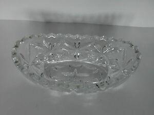 Rare Baroque Heavy Crystal Glass Gravy Boat or Sauce Boat - Diamond-Cut Crystal