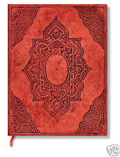 Paperblanks Blank Lined Writing Journal Concordia Matte Red Ultra Size 7X9 NWT