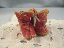 Antique German Bisque Doll Red Leather BOOTS