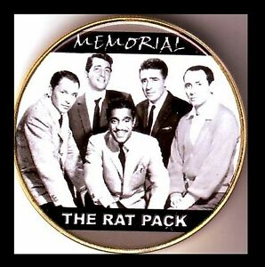 ● GROSSE MEDAILLE / MONNAIE PLAQUE OR : SINATRA / THE RAT PACK ●