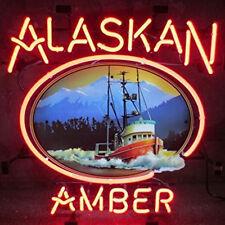 New Alaskan Amber Real Glass Beer Bar Store Home Decor Neon Light Signs 19x15
