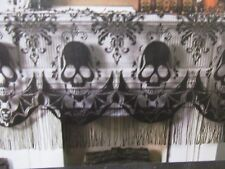 Halloween Lace Skull Black Mantle Scarf Decor Decoration