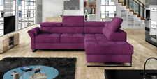 Ecksofa AVI Eckcouch Couch Bettkasten Schlaffunktion Sofa Sofas Violet Blau Neu
