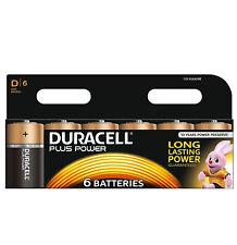 GENUINE 6 x DURACELL D SIZE PLUS POWER ALKALINE BATTERIES LR20, MN1300, MX1300