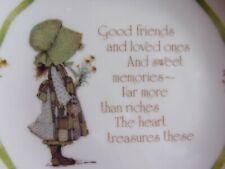 New listing Lasting Memories - Holly Hobbie 6� Plate - Friends and Loved ones saying