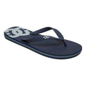 DC NEW Men's Spray Flip Flops - Black / Grey BNWT