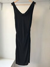 Nicole Miller 100% Rayon Black Off Shoulder Midi Dress, AU Size 8