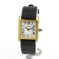 VINTAGE CARTIER 6653 MENS WRIST WATCH 18K GOLD ELECTROPLATED NO RESERVE #8461
