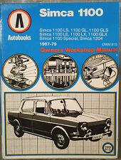 SIMCA 100 AUTOBOOKS Workshop Manuale da 1967 a 1979.