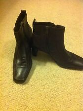 principles brown leather ankle boots size 5