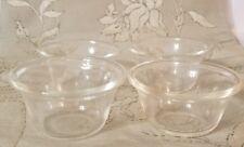 Set of 4 VINTAGE CLEAR PYREX 5oz CUSTARD CUPS #414