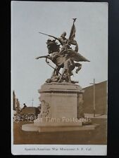 America CALIFORNIA Spanish - American War Monument S.F. Old Postcard by Bardell