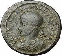 CONSTANTINE II Constantine the Great  son  Roman Coin Wreath of success  i40842