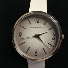 Isaac Mizrahi Live PC21 Silver White Watch Japan Movement with New Battery!