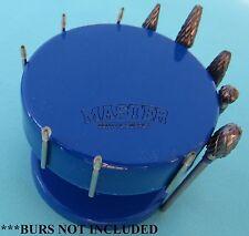 Dental Lab MAGNETIC Bur Holder STAND ROUND NAVY BLUE Burs Block Holder
