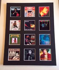 """JIMI HENDRIX 14"""" BY 11"""" LP COVERS PICTURE MOUNTED READY TO FRAME"""