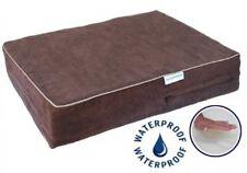 Solid Memory Foam Orthopedic Dog Pet Bed w/Waterproof Cover (Chocolate) BB-44