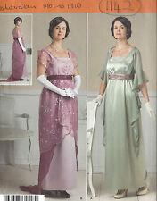 1900s Edwardian Vintage Sewing Pattern DRESS CORSET SKIRT B40-42-44-46-48(1142)