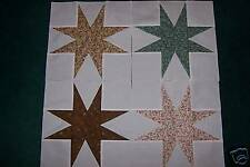 Eight Pointed Star Traditional Calico Quilt Blocks