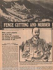 Union County, Oregon Fence Cutting & Murder-Genealogy
