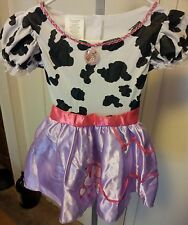 New-Fancy-Nancy-Size-4-6x-Cow-Print-Polyester-Dress-&-Going-Places-Board-Game-5+