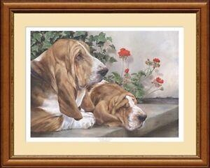 BASSET HOUNDS limited edition giclee dog art print