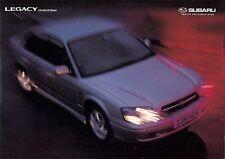 Subaru Legacy Saloon 1999-2001 UK Market Sales Brochure 2.0 GL 2.5 GX