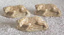 Wade England Porcelain Set of 3 Leopard Cat Figurines