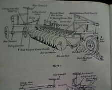 Horwood Bagshaw series 4 DISC PLOUGH / PLOW seeder Parts / owners Manual, book