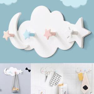 Hooks Cloud Star Moon Wall Door Hook Bathroom Bedroom Kids Room Hanger Hol