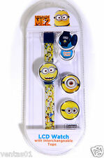 Despicable Me2 Children Lcd Watch With Interchangeable Tops Dmekd004