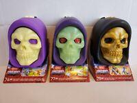 3 NEW Mega Construx Masters Of The Universe Skeletor Skull Fisto Cliff Climber