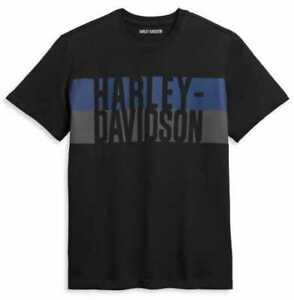Harley Davidson Mens Block Letter Logo T-Shirt 96369-21VM