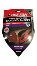 Dekton Detail Palm Sanding Pads Triangle Sheets 100mm x 140mm Fine 120 Grit