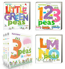 Little Green Peas, Little Green123 Peas & LMNO Peas Box Set (bb) Keith Baker NEW