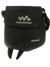 Vintage Sony Walkman Black Soft Carrying Case with Shoulder Strap