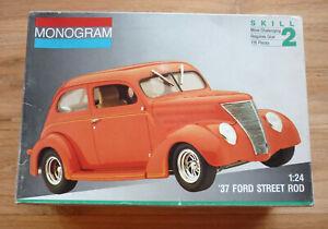 '37 Ford Street Rod Monogram 1/24 Model Kit #2757 (1991)