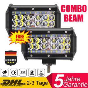 2x 1300W CREE Led Arbeitsscheinwerfer Lichtbalken Lightbar Auto LKW Viererreihe