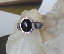 Ring mit Onyx, 925er Silber, Gr 17,5