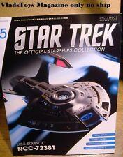 Eaglemoss Star Trek *Magazine only no ship* Issue #15 USS Equinox NCC-72381
